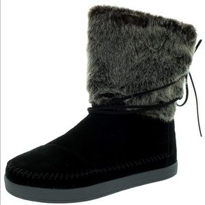 Suede Jacquard Women's Nepal Boots